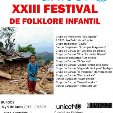 XXIII Festival de Folklore Infantil «UNICEF» (8 y 9 de junio de 2015)